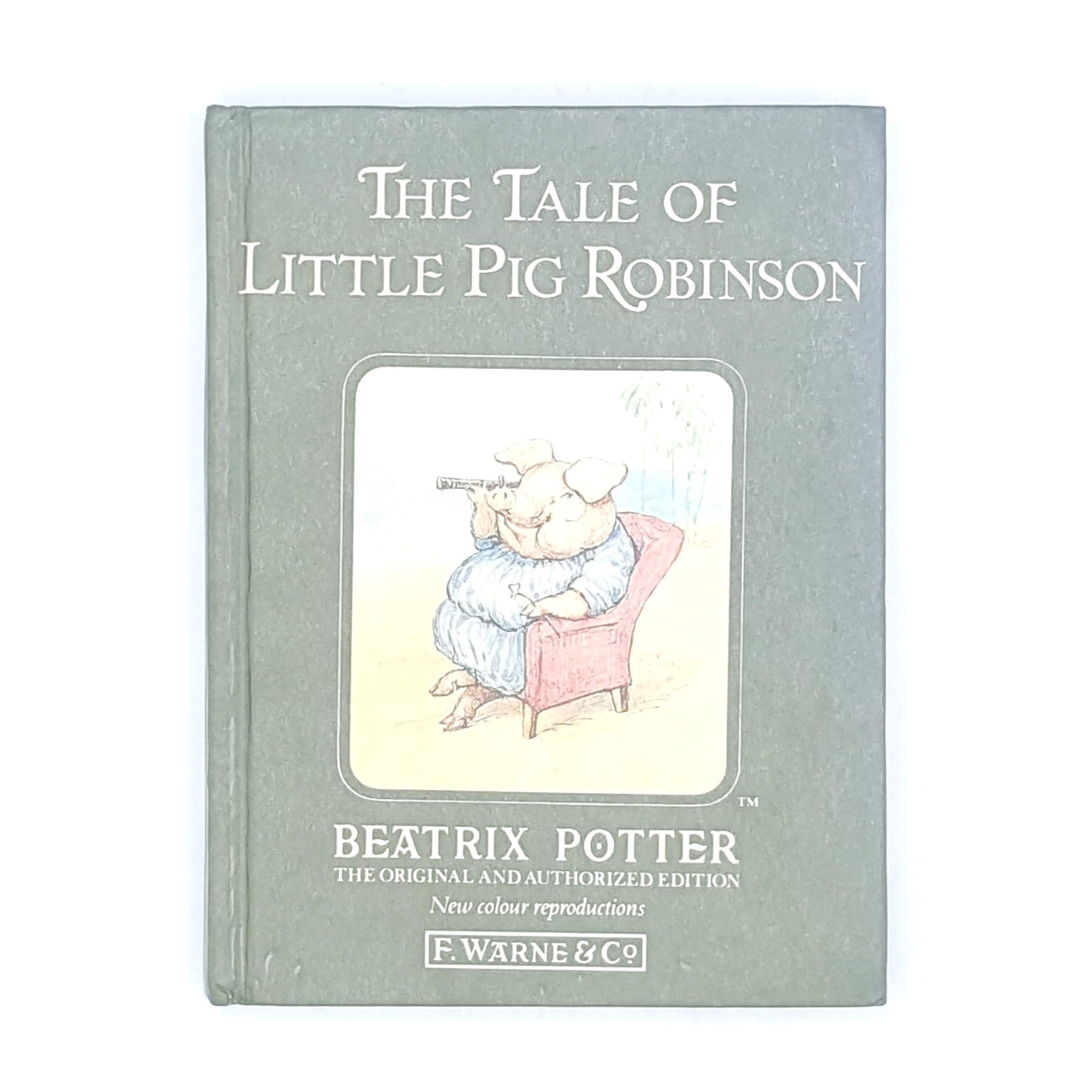 Beatrix Potter's The Tale of Little Pig Robinson, green cover