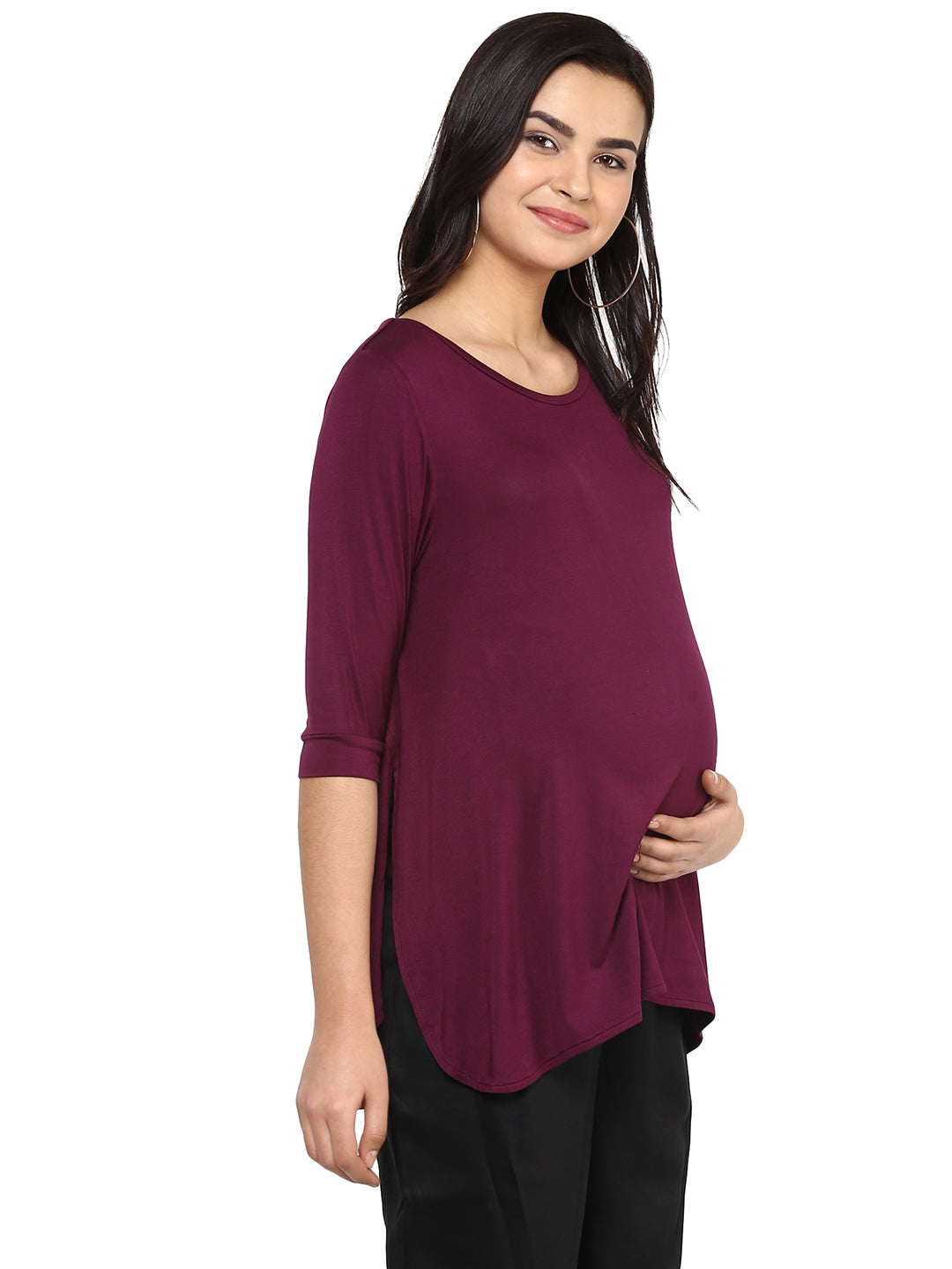 Side Overlap Nursing  Top - momsoon maternity fashion wear
