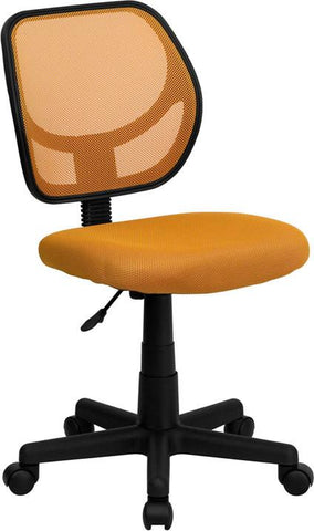 Mid-Back Orange Mesh Task Chair and Computer Chair WA-3074-OR-GG by Flash Furniture - Peazz Furniture