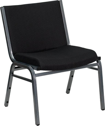 HERCULES Series 1000 lb. Capacity Big and Tall Extra Wide Black Fabric Stack Chair XU-60555-BK-GG by Flash Furniture - Peazz Furniture