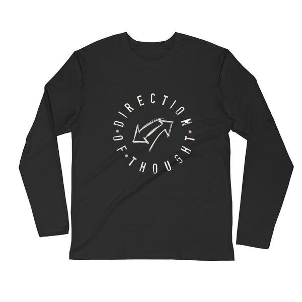 Direction of Thought Long Sleeve Fitted Crew Shirt - Thrive Any Way