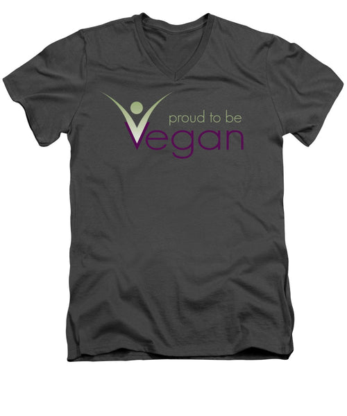 Proud To Be Vegan - Men's V-Neck T-Shirt - Thrive Any Way