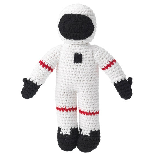 Spaceman Crocheted Rattle