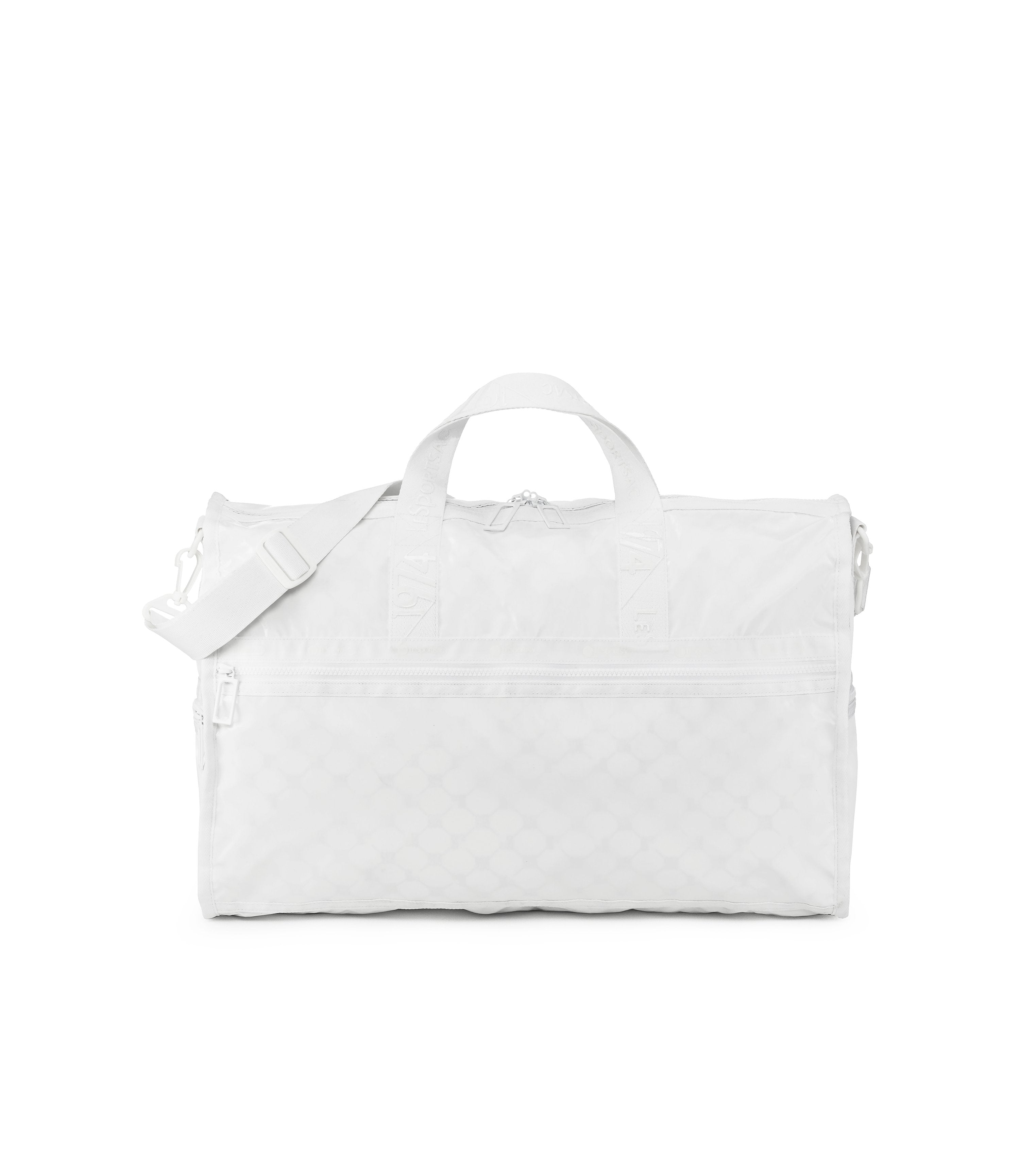 Large Weekender Bags, Duffle Bags, Carry-on, LeSportsac, Heritage, White Patent