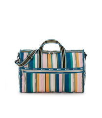 Large Weekender Bags, Duffle Bags, Carry-on, LeSportsac, Market Stripe print
