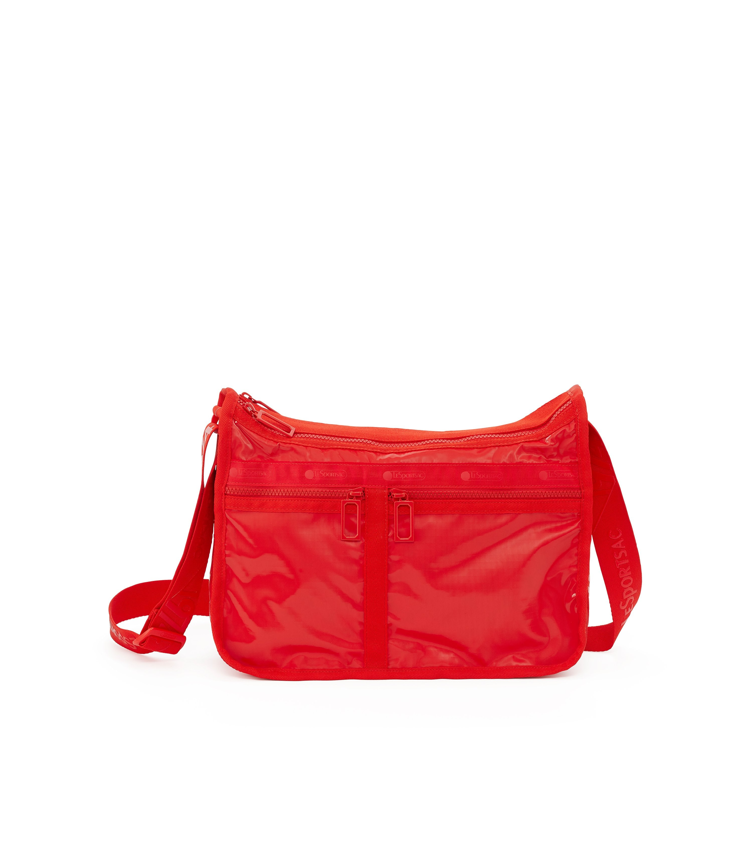 Deluxe Everyday Bag, Nylon Handbags and Classic Purses, Expandable, Crossbody, Red Patent