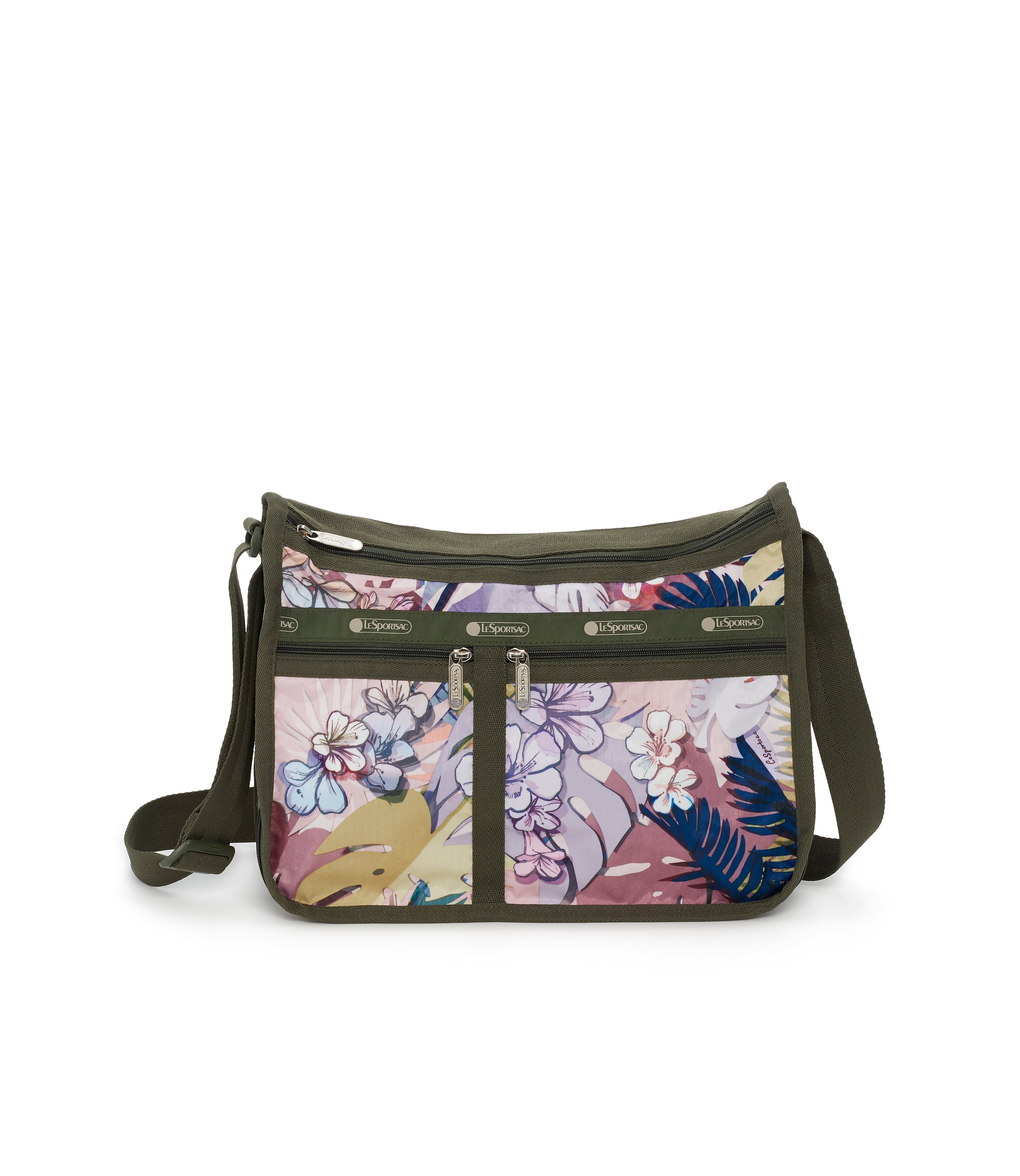 Deluxe Everyday Bag, Nylon Handbags and Classic Purses, Expandable, Crossbody, South Beach Floral print