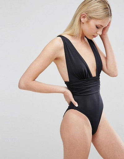 Timeless Deep V Swimwear - LuisaMora