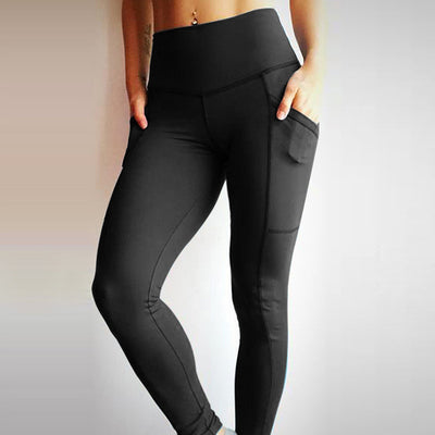 Push Up Leggings With 2 Side Pockets - LuisaMora