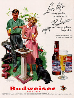 1951 Budweiser Beer Ad