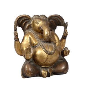 Vintage Indian brass figure of Ganesha