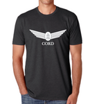 Men's Classic Blend Charcoal Crew with Metallic Print T-Shirt