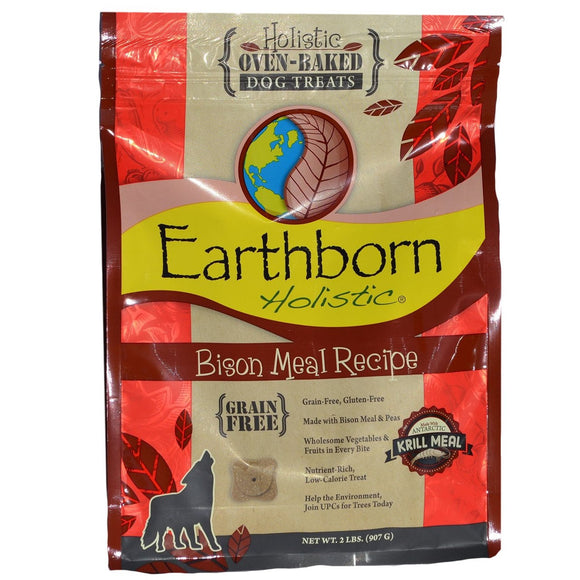Earthborn Holistic Oven-Baked Grain Free Treats Bison Meal (14 oz - 2 lb)