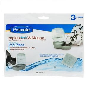 Petmate Replendish Charcoal Replacement Filters 3 pack