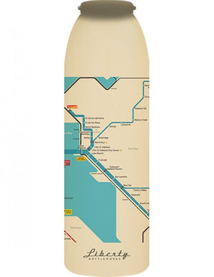 Transit Map Bottle San Francisco Map Detail