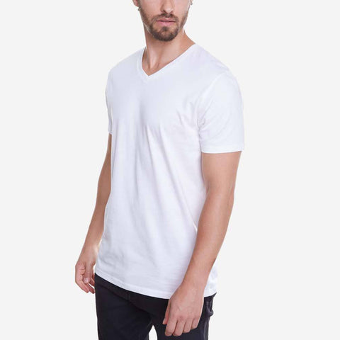 Egyptian Cotton V Neck White Best T-shirt