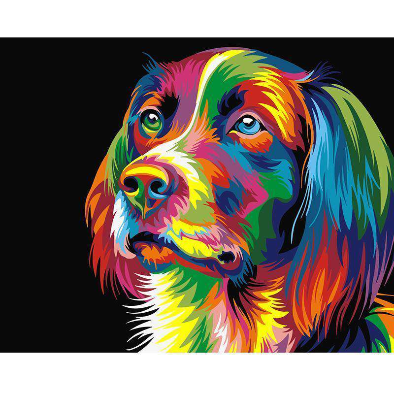 Colorful Dog - Paint by Numbers Kits for Adults DIY