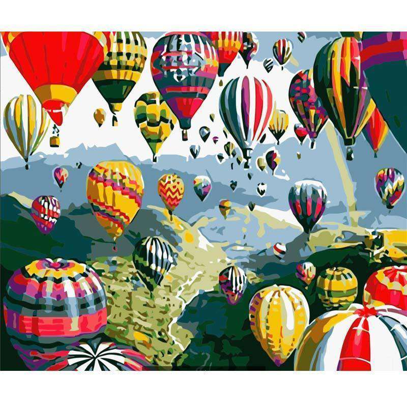Colour Hydrogen Balloons Festival - Paint by Numbers Kits for Adults DIY