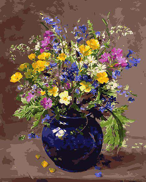 Flowers in Vase - Paint by Numbers Kits for Adults DIY