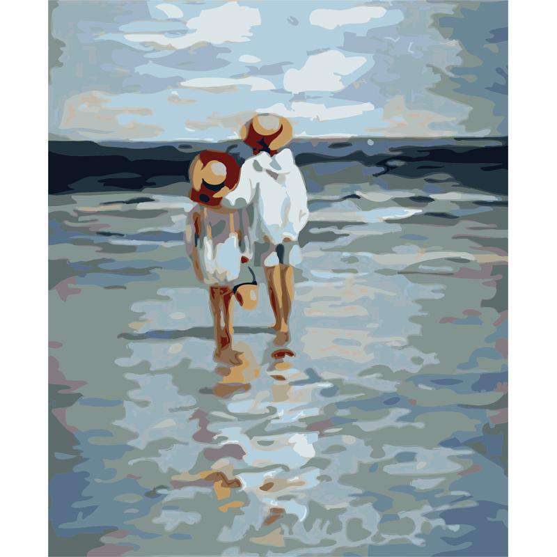 Girls on the Beach - Paint by Numbers Kits for Adults DIY