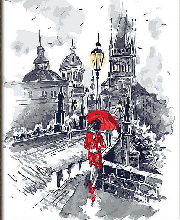 Lady in Red  - Paint by Numbers Kits for Adults DIY