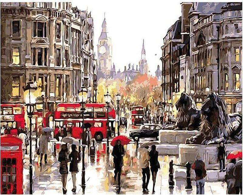 London Street - Paint by Numbers Kits for Adults DIY