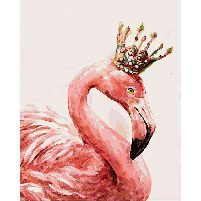 Queen Flamingo - Paint by Numbers Kits for Adults DIY