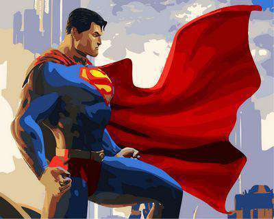 Superman - Paint by Numbers Kits for Adults DIY
