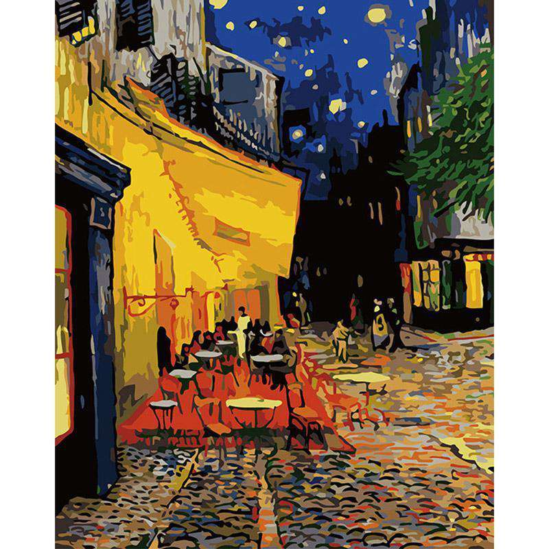 Van Gogh Cafe Terrace at Night - Paint by Numbers Kits for Adults DIY