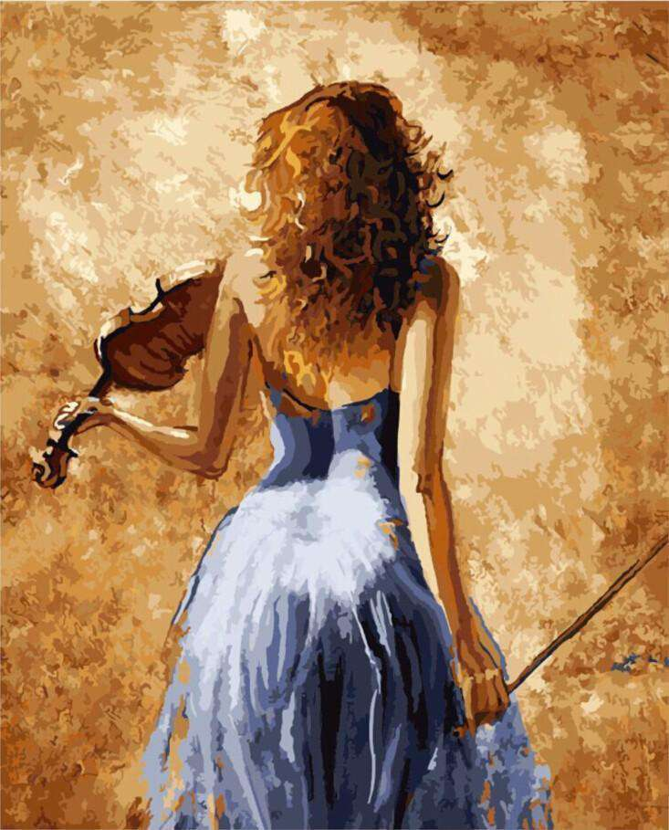 Violinist - Paint by Numbers Kits for Adults DIY