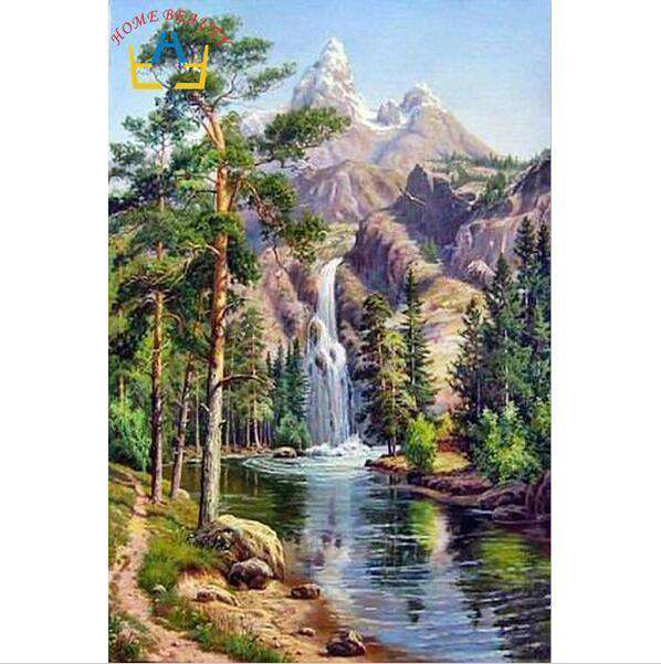 Waterfall - Paint by Numbers Kits for Adults DIY