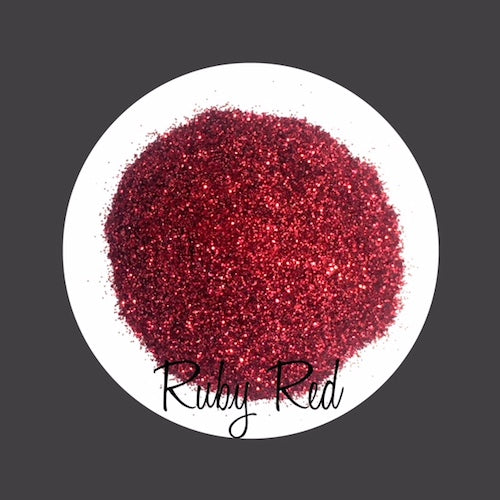 TAG Cosmetic Grade Puff Glitter Ruby Red