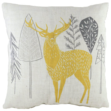Hulder Stag Natural Cushion