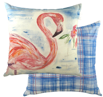 Jennifer Rose Gallery Coastline Flamingo Cushion
