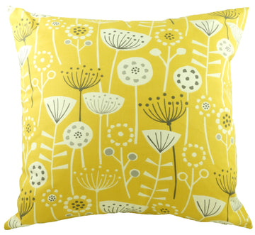 Nordic Seedheads Ochre Cushion