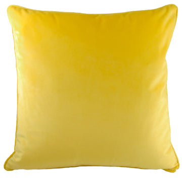 Royal Velvet Yellow Piped Cushion