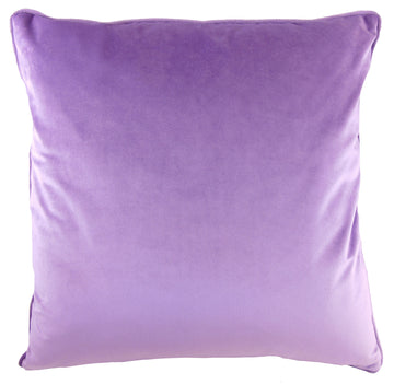 Royal Velvet Lilac Piped Cushion