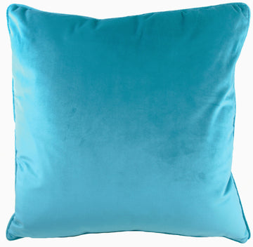 Royal Velvet Teal Piped Cushion