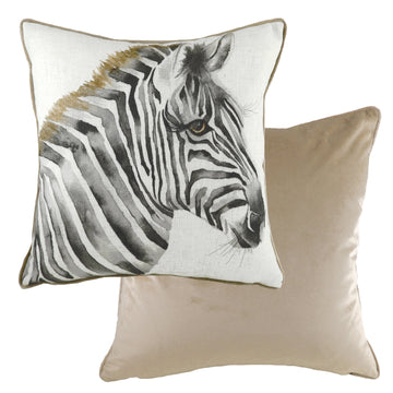 Safari Zebra Piped Cushion