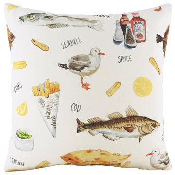 Fish & Chips Cushion