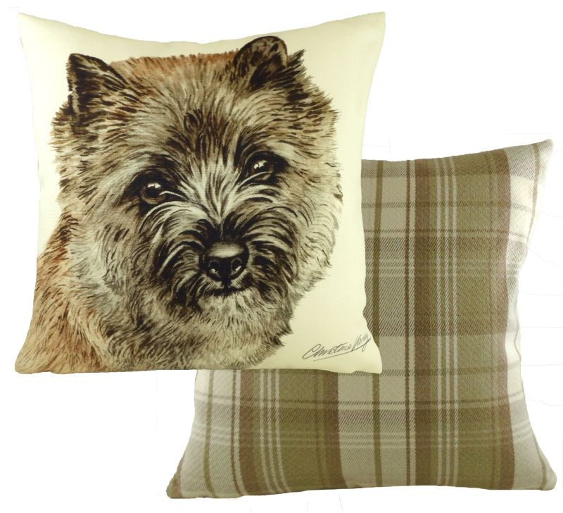 WaggyDogz Fawn Cairn Terrier Cushion