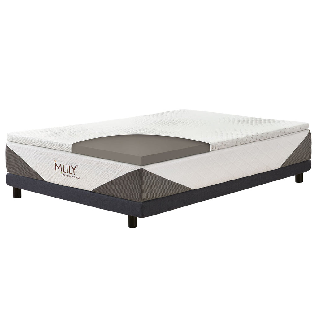 Mlily ENHANCEISELECT BAMBOO CHARCOAL MEMORY FOAM MATTRESS TOPPER