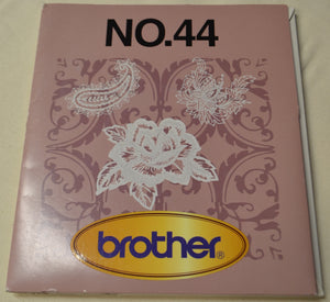 BROTHER Embroidery Design Card No. 44 Free Standing Lace