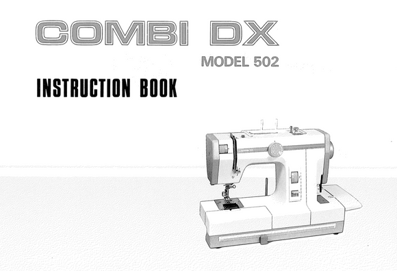 JANOME Combi DX (502) Instruction Manual (Printed)