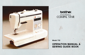 BROTHER Compal Star Model 732 (Convertible) Instruction Manual (Printed)