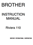 BROTHER  Riviera 110 Instruction Manual (Printed)