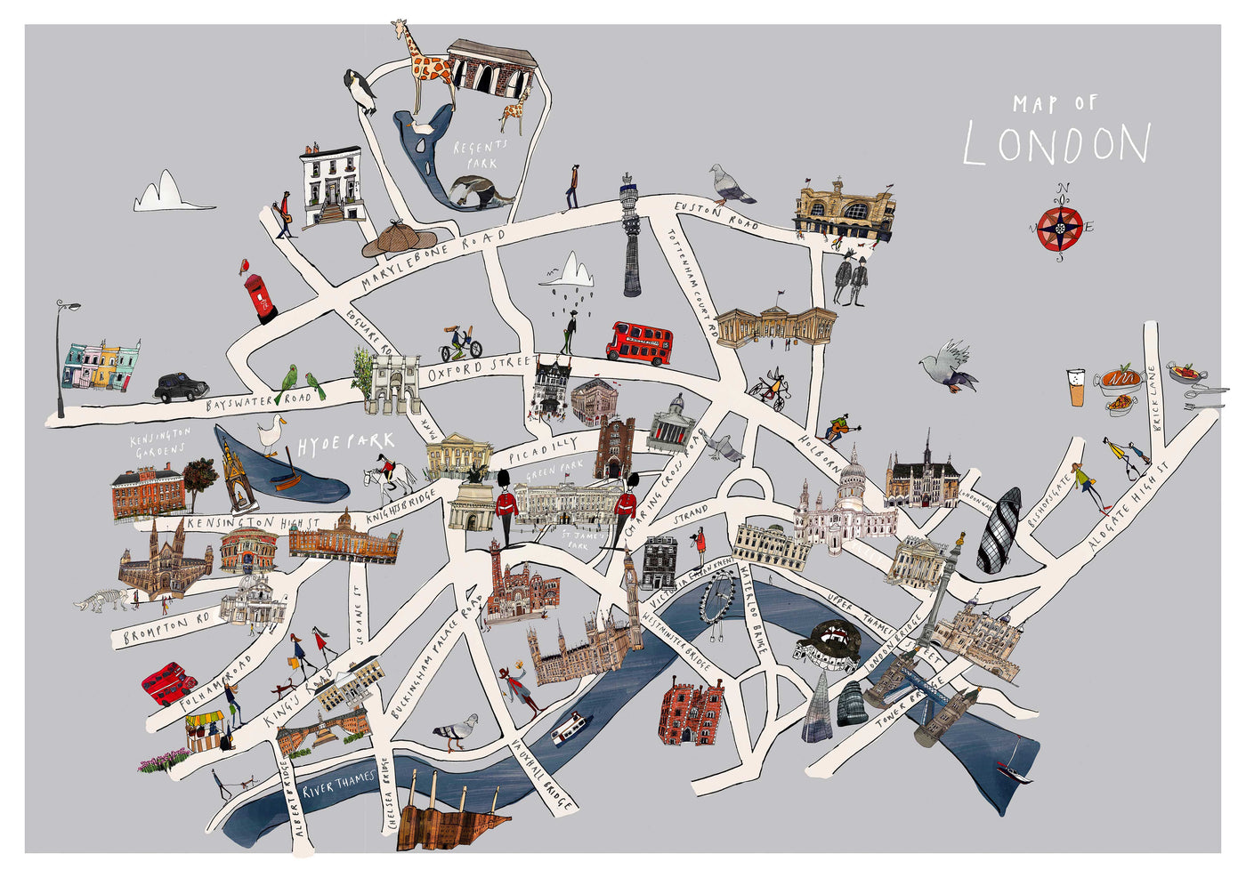 London Map A2  Giclee print