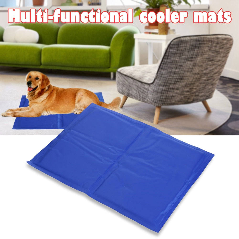 Pet Dog Cat Cooling Mats Soft Ice Pad Summer Puppy PVC Leakproof
