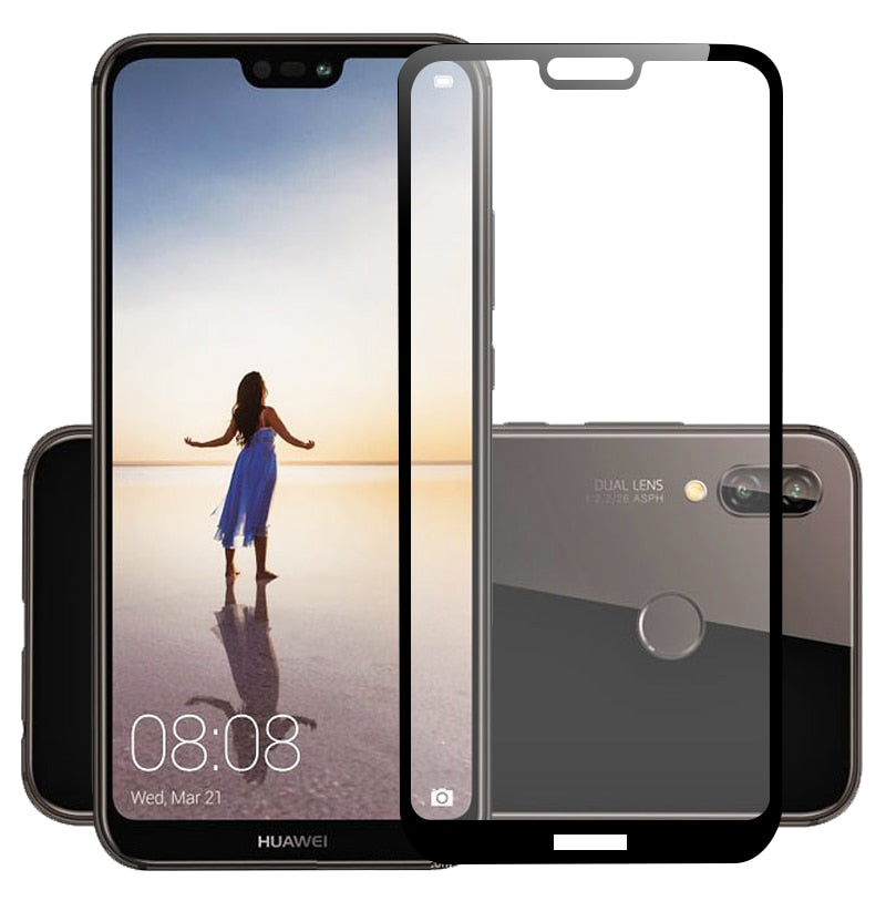 3D Tempered Glass For Huawei P20 Lite Full Cover 9H Protective film Explosion-proof Screen Protector