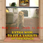 Dog Gate The Ingenious Mesh Magic Pet Gate For Dogs Safe Guard